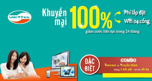 Lắp đặt combo mạng internet, truyền hình cáp Viettel giá ưu đãi